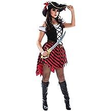 Karneval Klamotten Piratin Kostüm sexy Piratenkostüm Damen Kostüm Pirat INKL. Piratenhut Kostüm Karneval Damenkostüm Größe 40/42