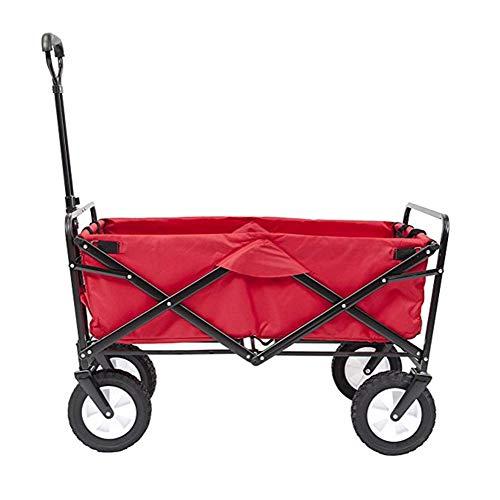 a2ac4d6a81b2 YAXuan Portable Garden Cart with 4 Wheels, Collapsible Folding Wagon, Hand  Trucks Garden Cart Portable Cart for Shopping, Festival, Camping, ...