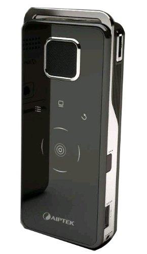Aiptek Pocket Cinema V20 LED-Projektor (Kontrast 200:1, 15 ANSI Lumen, 640 x 480) schwarz