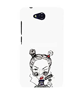 EPICCASE Sassy girl Mobile Back Case Cover For Micromax Canvas Play Q355 (Designer Case)
