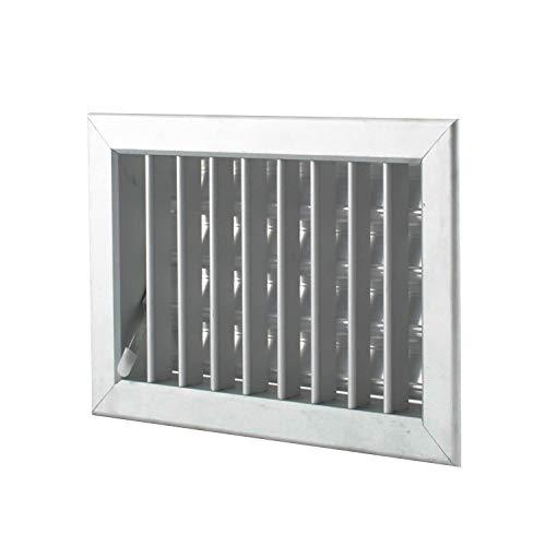 Boquilla de aire 22 x 15 cm de aluminio-rejilla para chimenea regulable...