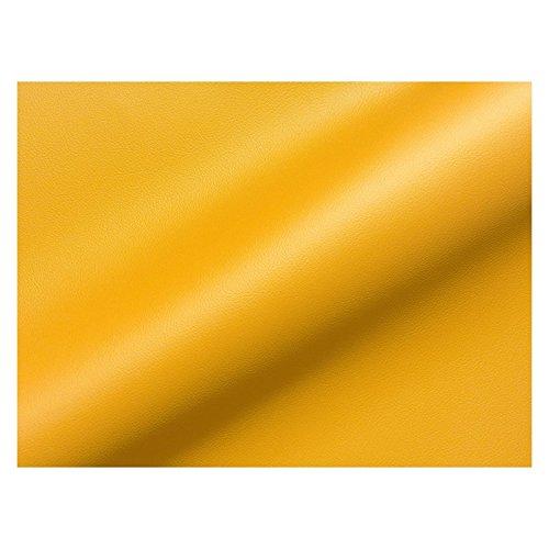 Stoff Polsterstoff Möbelstoff Bezugsstoff Meterware Sitzbezug Java Kunstleder Uni Gelb MUSTER (Kunstleder Gelb)