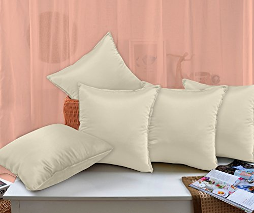 Story@Home Ivory Designer Diamond Cushion Cover set of 5 Pcs