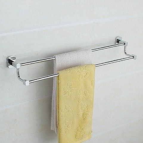 ZHGI Toallero doble baño baño Toalla de baño barras de cobre para rack accesorios de hardware