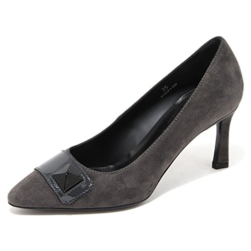 76803 decollete TOD'S CUOIO grigia PIRAMIDE donna shoes women Grigio scuro