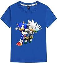 Silver Basic Camiseta Deportiva para Niños Inspirada en la Película Sonic The Hedgehog con Estampados Gráficos