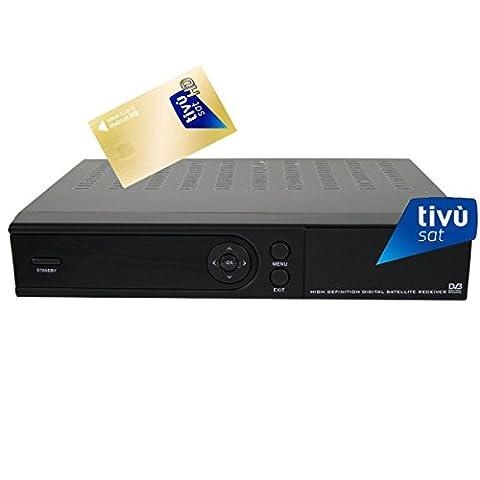 SAB HD 4900 HDTV Sat Receiver für Tivusat Mediaset inkl. Tivu Sat HD Karte Aktiviert inkl. HDMI
