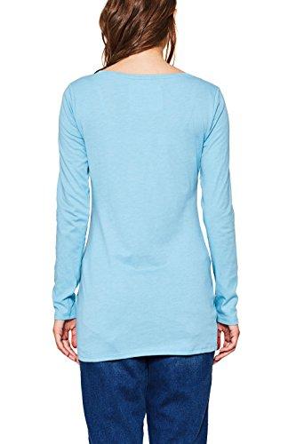edc by ESPRIT Damen Langarmshirt Blau (Turquoise 5 474)