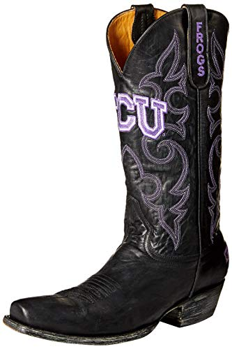 NCAA TCU Horned Frogs Herren Boardroom Style Boots, Herren, TCU-M101, schwarz, 9 D (M) US