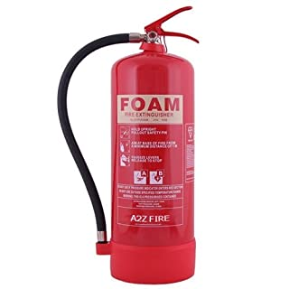 9 Litre Foam Fire Extinguisher - AFFF Foam with 5 year Warranty & UK Manufactured by A2Z Fire