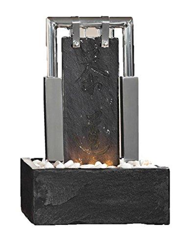Edelstahl-Schieferbrunnen Milton von seliger®