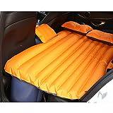 Santonliso Oxford Multifunktionales aufblasbares Bett Reise tragbare Auto-Luftmatratze, Orange