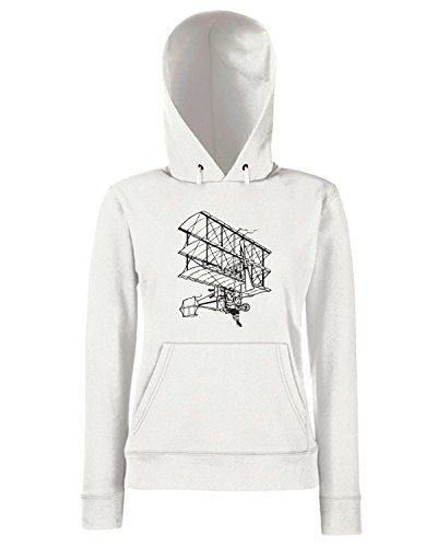 T-Shirtshock - Sweats a capuche Femme FUN0126 05 28 2013 Flying Machine T SHIRT det Blanc