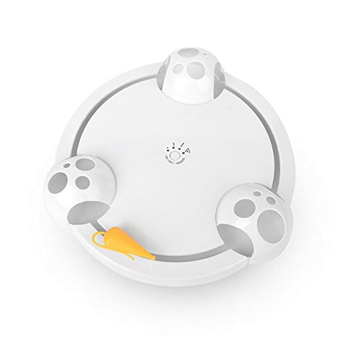 PETCUTE Katzenspielzeug Automatisches Katzenspielzeug Kätzchen fangen die Maus automatische katzenspielzeug elektrisch interaktives Spielzeug