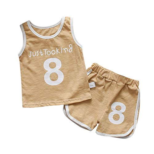 inkind Baby Mädchen Jungen Weste Tops mit Shorts Outfits Set Babykleidung Set Fußball Baby Druck Kleidung Casual Sommer Bekleidungsset ()
