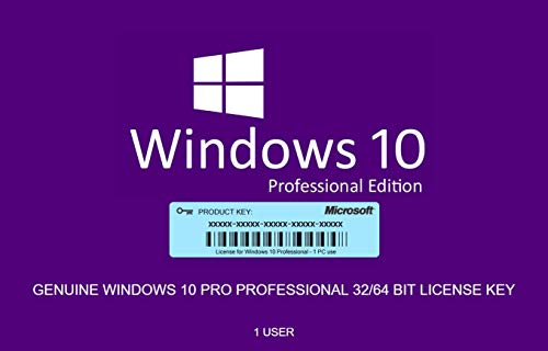 Price comparison product image Genuine Windows 10 Professional 32 / 64bit - 1 License Key + OS Download- Same Day Delivery
