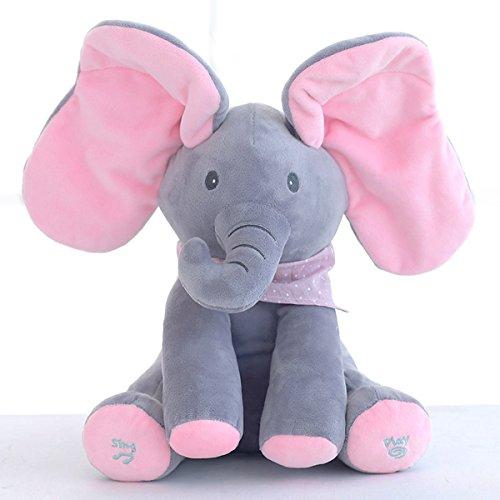 SODIAL Elefante Muneco Elefante de Peluche Animal de Relleno Elefante Reproducir Musica...