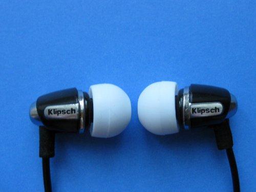 12 Stück Groß (L-HB) Weiß (White) Ersatz Set Ohrstöpsel Ohreinsätze für Klipsch Image Serie: X11i, Lou Reed X10i, X10i, X7i, A5i, S5i, Reference S4i, S4i Rugged, S4i II, S4a II, S4, S3, S2, S2m, X1 und Custom 1, 2, 3 Serie In-Ear Ohrhörern - 5