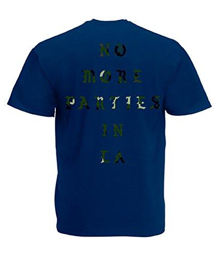 TRVPPY Herren T-Shirt NO MORE PARTIES IN LA / Camouflage Aufdruck / in vielen versch. Farben / mit Rücken -und Brustaufdruck / Gr. S-5XL Camo-Navyblau