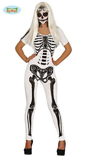 t für Damen Gr. S/M, Größe:S/M (Damen Skelett Jumpsuit)
