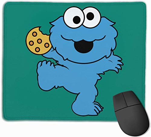 Cookie Monster Rubber Mousepad Gaming-Mauspad mit angenähter Kante 11,8 'x 9,8'