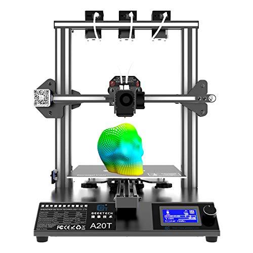 GIANTARM Geeetech A20T 3D-Drucker mit drei Extrudern, integrierter Gebäudebasis, Pausenwiederaufnahmefunktion, Schnellmontage, DIY-Kit, 250 * 250 * 250 mm³