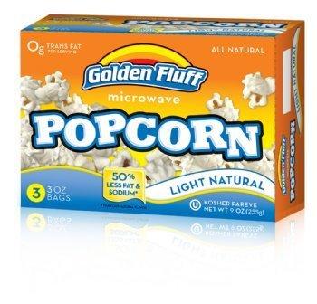 Golden Fluff 12033 Microwave Popcorn - Lite Case Of 12 X 3 X 3 Oz