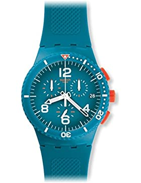 Swatch Unisex-Armbanduhr Chronograph Quarz Silikon SUSN406