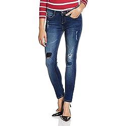 Jealous 21 Women's Slim Jeans (PJEAL-S-JY22121-3162, 34, BLUE)