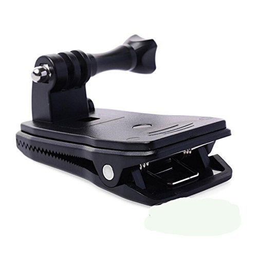 Eggsnow Bag Backpack Strap Quick Release Clip Clamp Mount 360 Degree Rotation for Gopro Hero 3+ 3 2 1 - Black