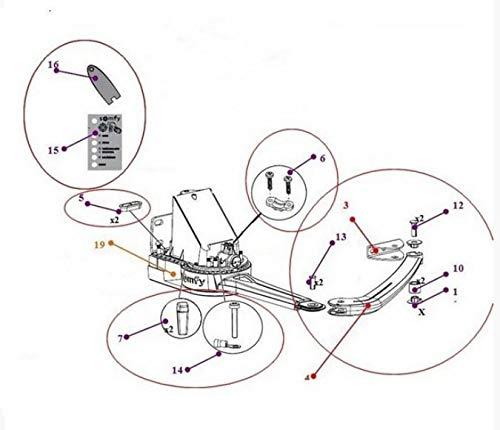 Kit demi-bras+patte vantail+accessoires pr EVOLVIA 400/450 et PASSEO 800 SOMFY