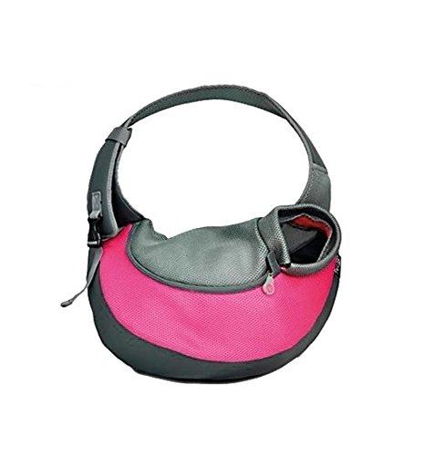 Reisetasche Transporttasche–Träger Gehstock, ideal für kleine Hunde oder Katzen, fuchsia, Medium