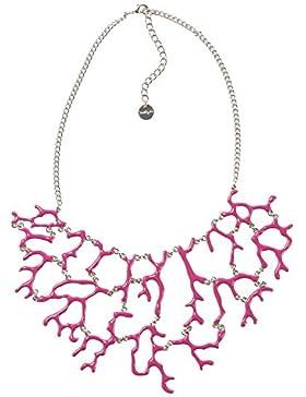 DESIGUAL Damen-Halskette Global traveller Versilbert-73G9EH53119U
