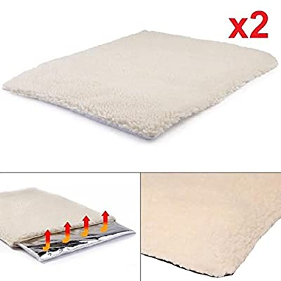 2 x Self Heating Pet Blanket Pad Ideal for Cat/Dog Bed Medium by MaxCare