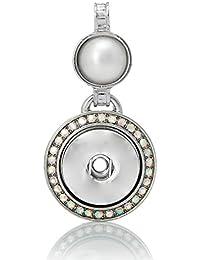 Souarts colgante para botón a presión brillantes en forma redonda
