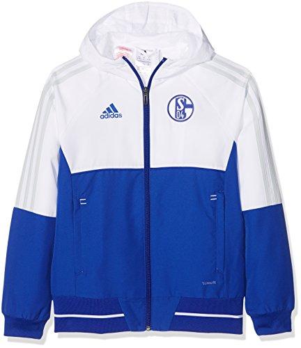 Adidas S04 PRE JKTY Chaqueta FC Schalke 04, niños, Azul (azufue/Blanco / gricla), 164