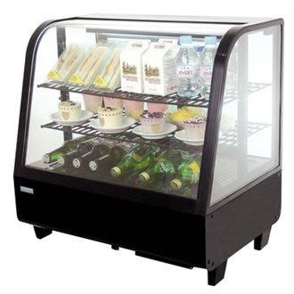 Gekühlte Arbeitsplatte (Polar Schaukühlschrank für gekühlte Waren, 100 Liter, für Montage auf Platte)