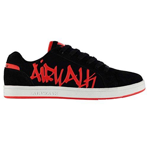 airwalk-neptune-chaussures-de-skate-baskets-noir-rouge-pour-homme-sneakers-chaussures-noir-rouge-uk8