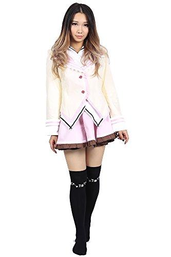 De-Cos Supreme Candy Cosplay Female School Uniform Outfit 1st Verion (Kostüme Candy Halloween Cotton)