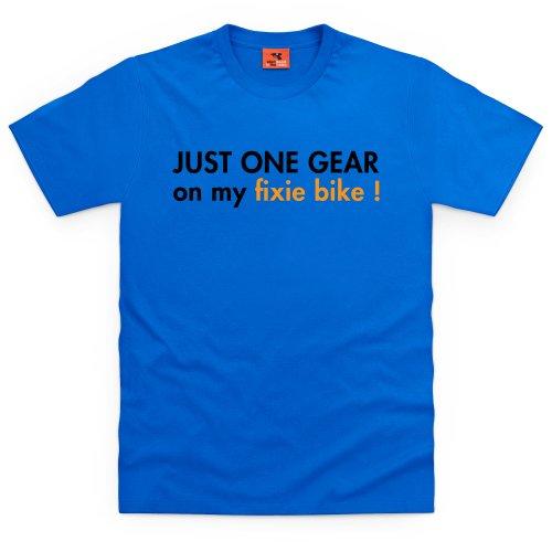 My Fixie Bike T-shirt, Uomo Blu royal