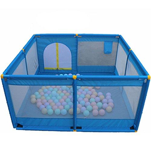 Großes Tragbares Baby Scherzt Laufgitter, Spiel-Yard Faltbarer Raumteiler Oxford-Stoff 8 Seitenverkleidung (Farbe : Blue)