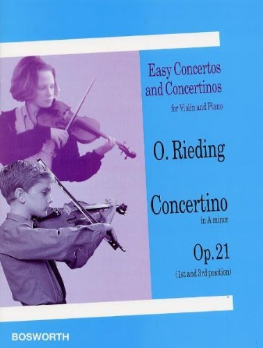 Oskar rieding: concertino in a minor for violin and piano op.21 (Easy Concertos and Concertinos for Violin and Piano)