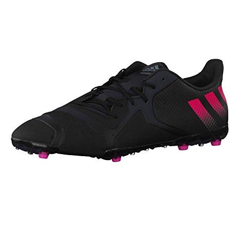 adidas Herren Ace 16+ TKRZ Fußballschuhe Schwarz/Rosa/Grau (Negbas/Rosimp/Griosc), 44 EU
