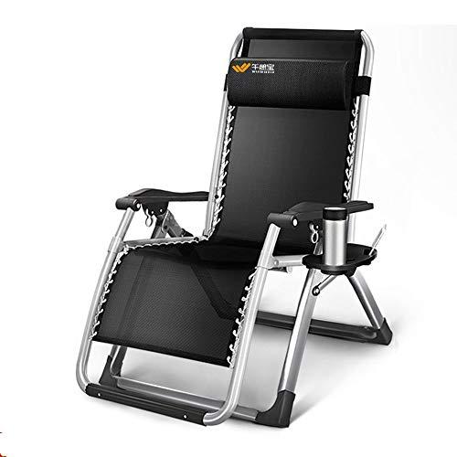 Schwerelosigkeit-Stuhl Lounge Recliner Falten Einstellbar Tragbar Büro Terrasse Strand Poolseite...