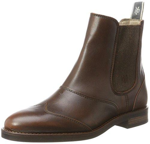 Marc O'Polo Damen Flat Heel 70814225002124 Chelsea Boots, Braun (Brandy), 40 EU (Polo Boot Frauen)
