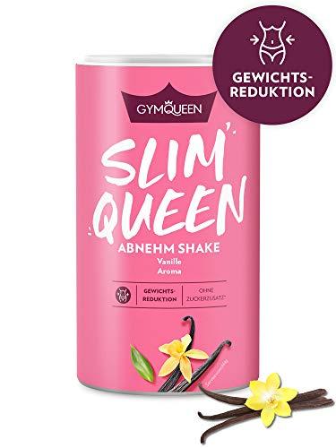 GymQueen Slim Queen Abnehm Shake 420g   Leckerer Diät-Shake zum einfachen Abnehmen   Mahlzeitersatz mit wichtigen Vitaminen und Nährstoffen   nur 250 kcal pro Portion & ohne Zucker-Zusatz   Vanille