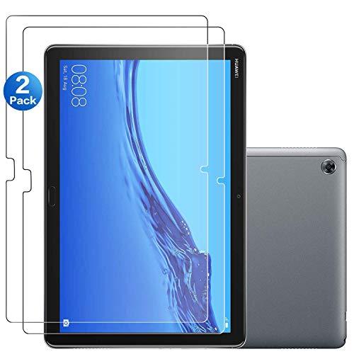 SOCINY [Pack of 2] Huawei MediaPad M5 Lite 10 (10 Zoll) Displayschutzfolie, gehärtetes Glas Displayschutzfolie mit 9H Härte -