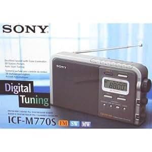 Sony ICF-M 770 S Tragbares Radio silber