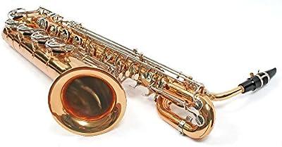 Karl Glaser Saxofón barítono con maletín + boquilla, latón, cromadas solapas