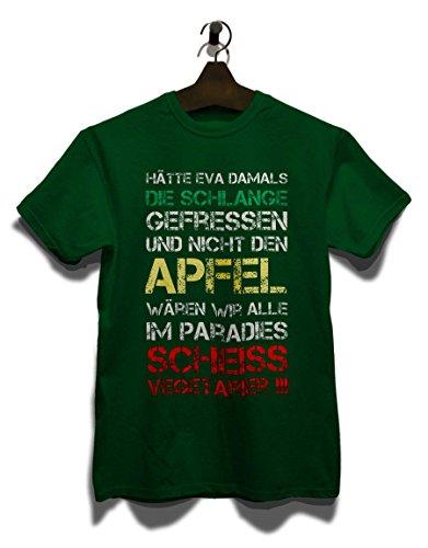 Haette Eva Damals Die Schlange Gefressen T-Shirt Dunkel Grün
